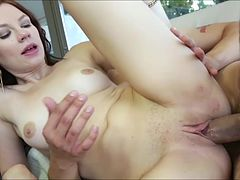 Hot blonde Chloe Love gets her pussy banged by her boyfriend from across the pool