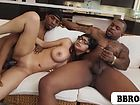 Mia Khalifa fucked by two black monster cocks