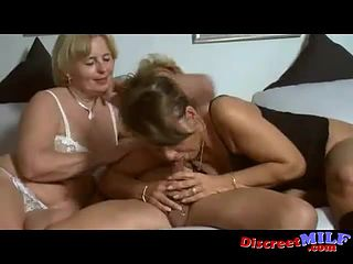 threesome grman old couple