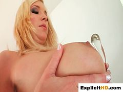 Tits jiggle and pussys get soaked during self fucking