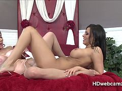 Kedra shows whos boss in webshow of sensual lust to innocent playmate