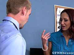 Cougar CFNM office ladies fucking IT guy